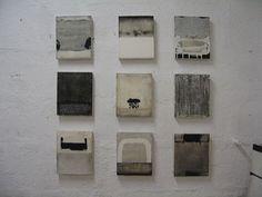 s-c-r-a-p-b-o-o-k:  Hideaki Yamanobe - 2003-2008, Acryl und Sand auf Nessel, 9 x 28 x 23,5cm