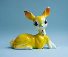 The yellow deer by Made with love by Cecilie, via Flickr