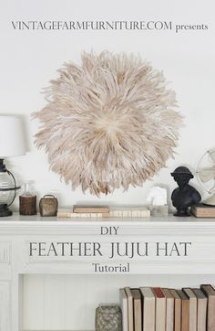 excellent Juju hat tutorial with strings of feathers and cardboard. From Vintage Farm Furniture includes link for purchasing the feathers