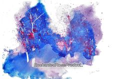 Full Moon Art  Original Artwork First Snow Original Watercolor Signed art Blue Original painting (45.00 USD) by EnchantedRoseShop