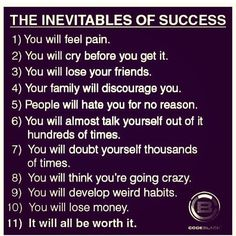 The inevitable life lessons of success Exam Motivation, Study Motivation Quotes, Study Quotes, Entrepreneur Motivation, Student Motivation, Fitness Motivation, Daily Motivation, Fitness Goals, True Quotes