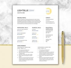 Engineer Resume Printable Template Editable In Word  Gear Design