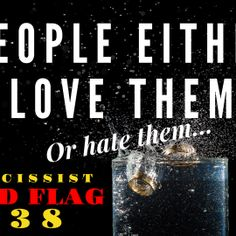 Red Flag of a Narcissist #38: People Either Love Them or Hate Them @tracyamalone