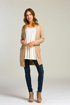 Wilder Cardigan - Camel - Bungalow 123 - 1