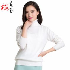 Winter Women 22 Solid Color Knitted Turtleneck Cashmere Pullover Sweater Autumn…
