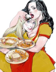 2 broke girls by gunnmgally on DeviantArt 2 Broke Girls, Cartoon Network Adventure Time, Adventure Time Anime, Illustrations, Illustration Art, Top Tv Shows, Kat Dennings, Love Art, Favorite Tv Shows