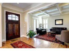 Simple foyer with beautiful door