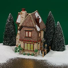 """Department 56: Products - """"Belle's House"""" - View Lighted Buildings retired, but it's on eBay!"""