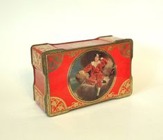 Vintage Cremona & Red Boy Toffee Tin A.S. Wilkin Ltd. - Made in England - Circa 1930's by HouseofLucien, $25.00