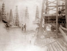 Oil fields, Beaumont, Texas, 1901