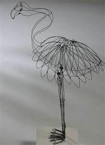 Image detail for -katherine harvey creates wire bird sculpture using steel binding wire ...