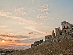 Unusual/unique travel destinations. Italy - Craco, Matera, Basilicata, Italy The medieval village of Craco is now an abandoned ghost town after a series of landslides forced its residents out. Rumour has it that the ruins are now inhabited by ghosts.