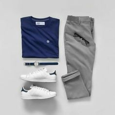 Men Casual T-Shirt Outfit 🖤 Very Attractive Casual Outfit Grid, Mode Outfits, Casual Outfits, Men Casual, Stylish Men, Outfit Grid, Elegantes Business Outfit, Minimalist Outfit, Moda Blog, Herren Style