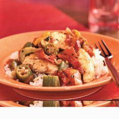 Superfast Chicken Recipes | Creole Chicken and Vegetables | CookingLight.com