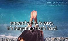 Remembering Is Easy, It's Forgetting That's Hard.