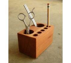 Recycled Wood Pen Holder Pencil Holder Desktop Office Supplies Organizer, $33.0