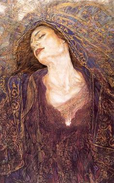 Reminds me of a cross in styles between Gustav Klimt & ...Rossetti (maybe)? Either way, it's beautiful.