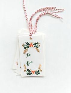 Garland Gift Tags, $7, riflepaperco.com