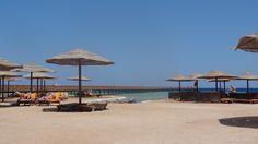Strand und Badesteg des Grand Makadi, Hurghada, Ägypten, Makadi Bay
