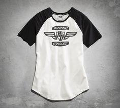 You need clothes that can keep up with your live-large, ride-hard philosophy, which is why we designed this tee. It wicks moisture to keep you cooler, anti-microbial properties help prevent odors, and it even offers sun protection. Features like these on our women's short-sleeve top keep you cool on the saddle or in the gym. | Harley-Davidson Women's Sporty Performance Tee
