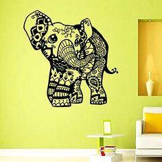 Wall Vinyl Decal Pattern Sticker Home Decor Art Mural Indian Elephant Z378 WisdomDecalHouse http://www.amazon.com/dp/B00NB45YNU/ref=cm_sw_r_pi_dp_vcFdub1PQY6NY