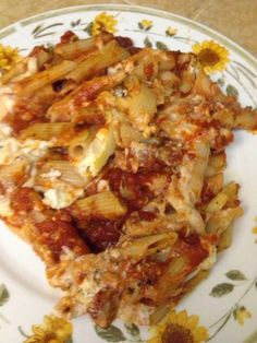Dinner....1 day at a time: Cheesy Baked Ziti