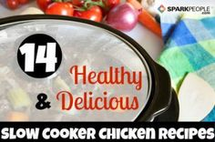 14 Healthy and Delicious Slow Cooker Chicken Recipes Healthy Slow Cooker, Crock Pot Slow Cooker, Crock Pot Cooking, Slow Cooker Chicken, Slow Cooker Recipes, Crockpot Recipes, Chicken Recipes, Cooking Recipes, Recipe Chicken