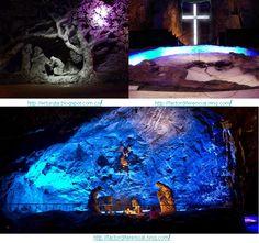 Construida en el interior de una mina de sal en Zipaquirá, Cundinamarca, la catedral es un sitio de turismo religioso que alberga una importante colección de obras esculturas religiosas realizadas en sal y mármol.