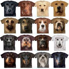 The Mountain Big Dog Face T-Shirts S-3XL Black Lab Beagle Bulldog Pit Bull Boxer #TheMountain #DogTees #Labrador #Bulldog #Poodle #GSD #Yorkie #Beagle #PitBull #Boxer #Dachshund #ShihTzu #Doberman #Rottweiler
