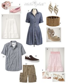 Soft and sweet family portrait outfit ideas
