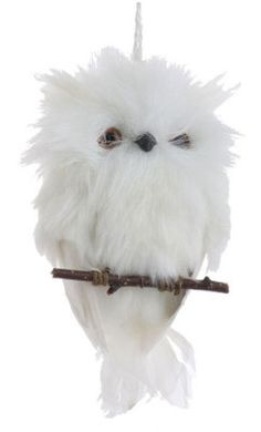 """Oliver Owl Ornament    The baby snowy owl is perched and prepared to dangle anywhere you might fancy to flaunt him. 6""""."""