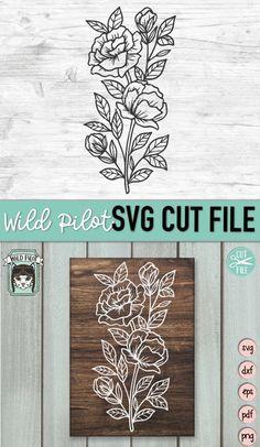 Flower Svg, Flower Skull, Flower Clipart, Flower Frame, Leaf Border, Monogram Frame, Diy Arts And Crafts, Floral Bouquets, Textured Background