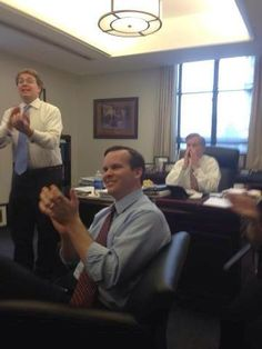 Bob McDonnell Celebrating the Passage of His Tax Hiking Transportation Bill