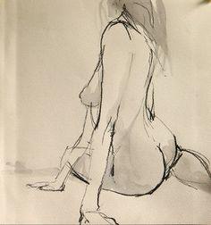 """Saatchi Online Artist Robert Bubel; Drawing, """"'Nude IX.' / SOLD"""" #art:"""
