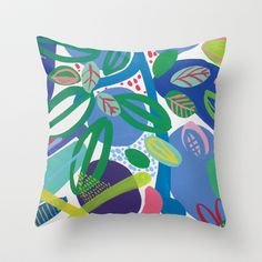 Secret garden II Throw Pillow by Milanesa - $20.00