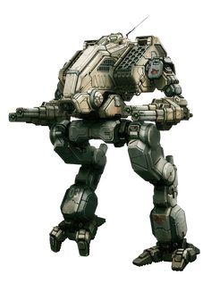 Clan Mad Dog Prime Heavy Omnimech. Armament: L/R-Torso LRM-20s w/ Artemis IV FCSs; L/R-Arm Large/Med Pulse Lasers.