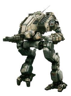 Clan Mad Dog Prime Heavy Omnimech. Armament: L/R-Torso LRM-20s w/ Artemis IV FCSs; L/R-Arm Large/Med Pulse Lasers.