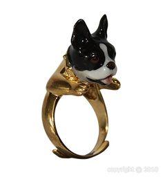 Adjustable ring French bulldog