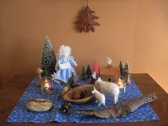 winter nature table idea