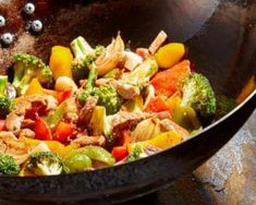 Your wok can do more than just cook broccoli and beef stir-fry . Home Recipes, Meat Recipes, Asian Recipes, Dinner Recipes, Healthy Recipes, Ethnic Recipes, Sicilian Recipes, Sicilian Food, Grilling Gifts