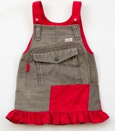 Recycle Cargo Pants to a Toddler Skirt Pattern - Free PDF Tutorial @ sew-whats-new.com