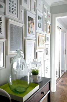 Art wall with white frames