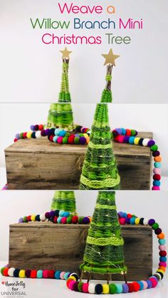 Today's festive how-to is a step-by-step weaving project that will result in the most beautiful willow branch mini Christmas tree…with a little spirit of Dr. Seuss! We'll also add a touch of twinkle and DIY craftiness for an instant show-stopper! This beautiful craft project requires no glue or power tools and can be made in just a couple of hours. A perfect seasonal decoration to display all winter long on tables, mantels, shelves or sideboards.