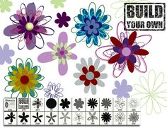 Flower Photoshop brushes, free to download from http://www.melsbrushes.co.uk/?p=562