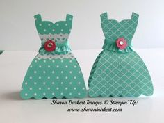 So cute! Sharon created a candy holder and decorated it with the Dress Up framelits. Check her post for the tutorial. All supplies from Stampin' Up!