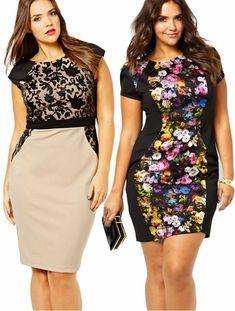 Мода для полных: 40 новинок платьев