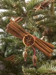 Cinnamon spice bundle christmas tree ornaments - https://www.facebook.com/diplyofficial