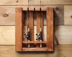 Fishing pole rack out of our quarter pallet