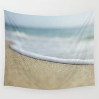 Wall Tapestries featuring Sea Foam Beach by Pure Nature Photos