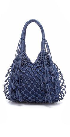 Designer Clothes, Shoes & Bags for Women Big Handbags, Fringe Handbags, Fringe Purse, Tote Handbags, Navy Tote Bags, Granny Square Bag, Macrame Purse, Macrame Design, Macrame Patterns